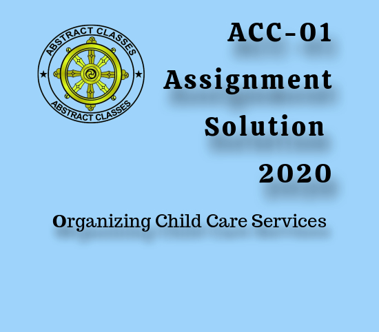 ACC-01 Solved assignment 2020
