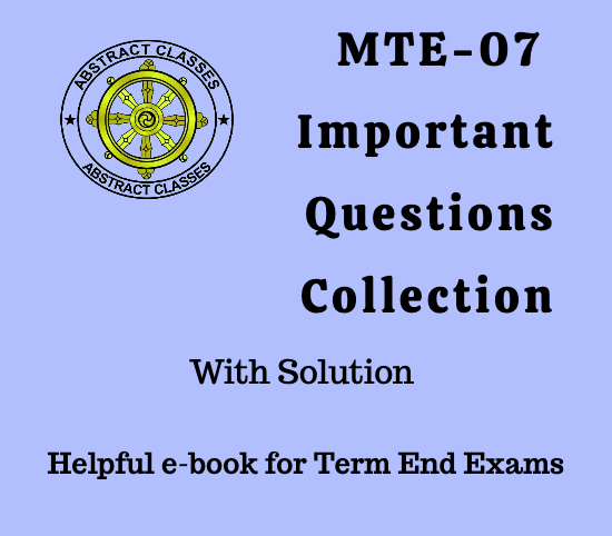 MTE-07 Important Questions Collection