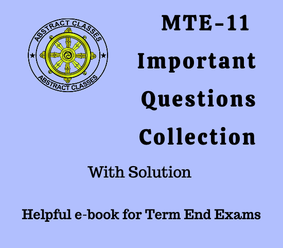 MTE-11 Important Questions Collection