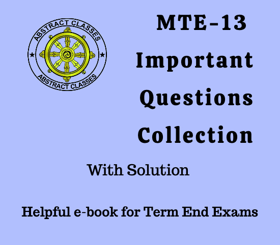 MTE-13 Important Questions Collection