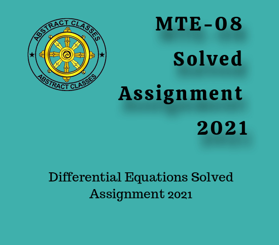 MTE-08 Solved Assignment 2021