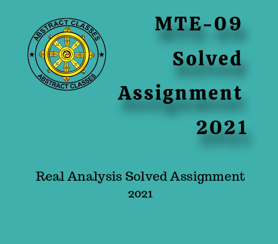 MTE-09 Solved Assignment 2021