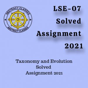 LSE-07 Solved Assignment 2021