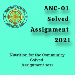 ANC-01 Solved Assignment 2021