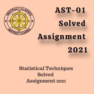 AST-01 Solved Assignment 2021